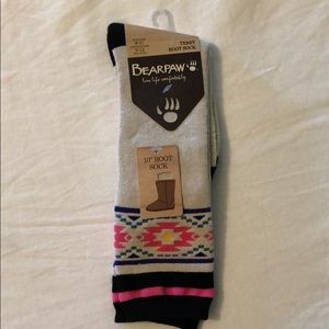 "NWT BearPaw 10"" Boot Sock"